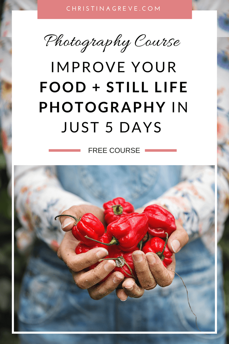 Join My Free FOOD & STILL LIFE Photography Course