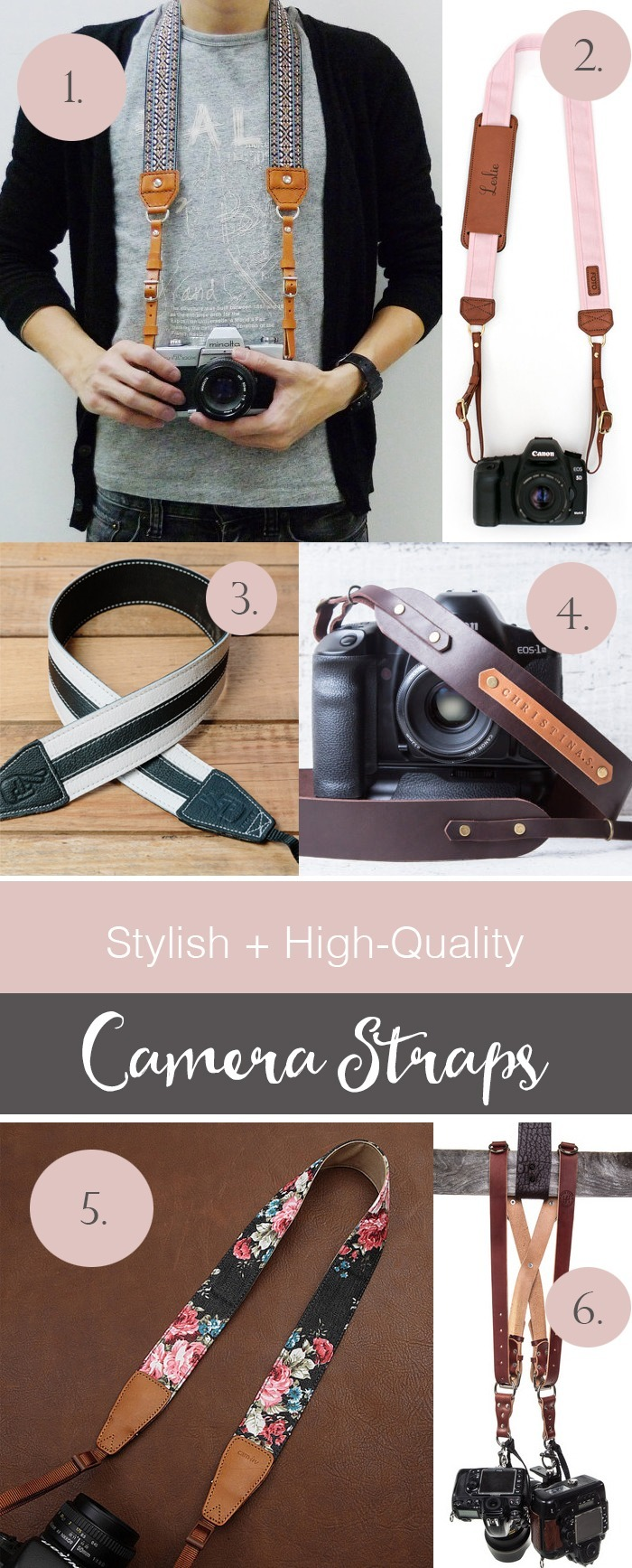 Stylish Camera Straps