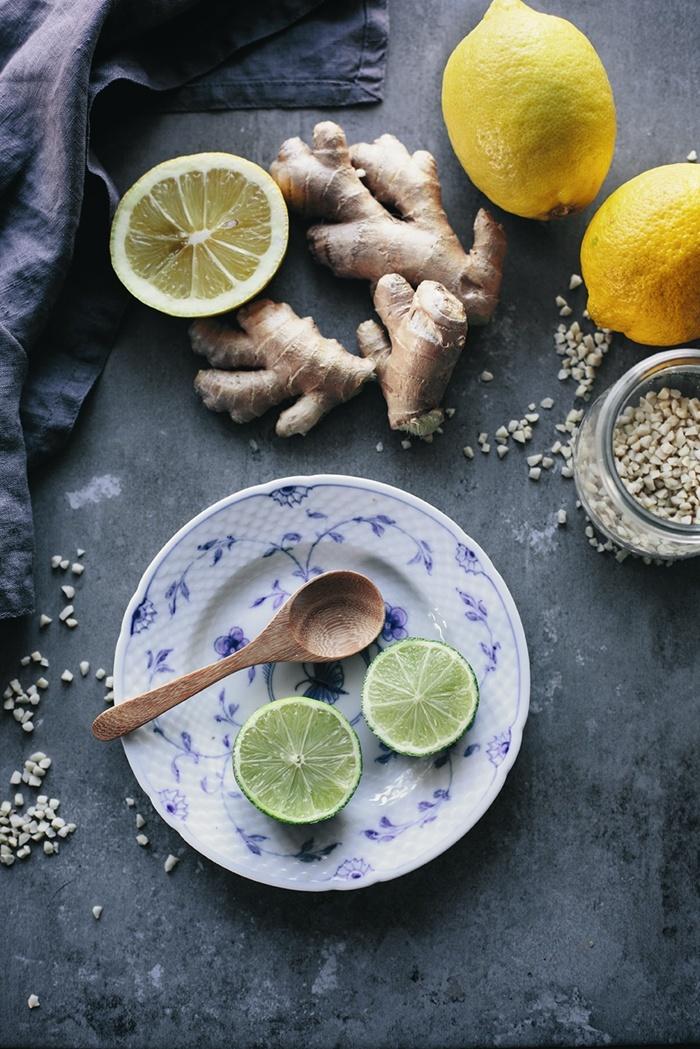 Homemade Ginger & Lemon Shots