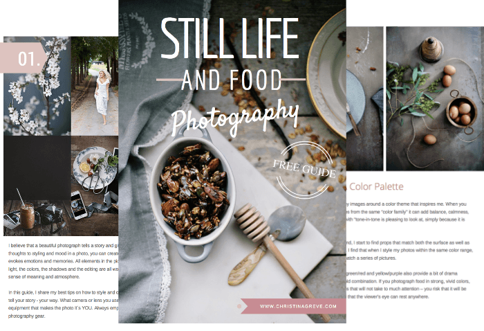 free still life and food photography guide