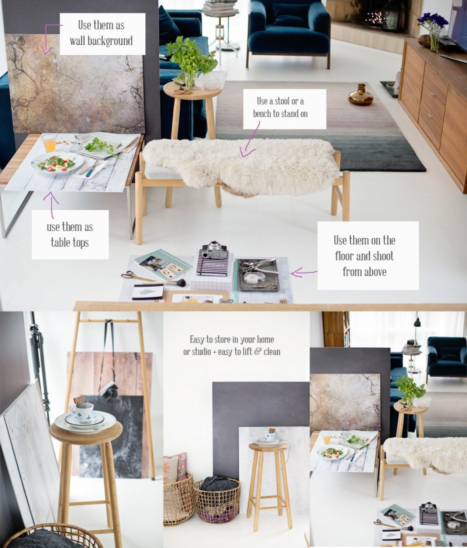 How to make a background for a photo shoot at home