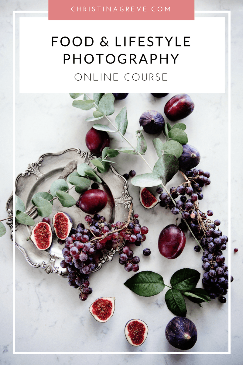 Food and lifestyle online photography course