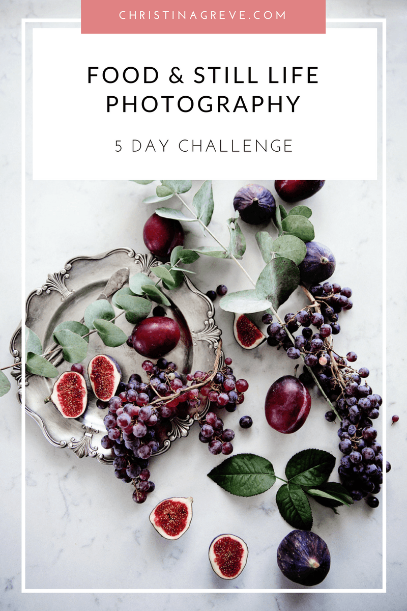 Free FOOD + STILL LIFE Photography Course