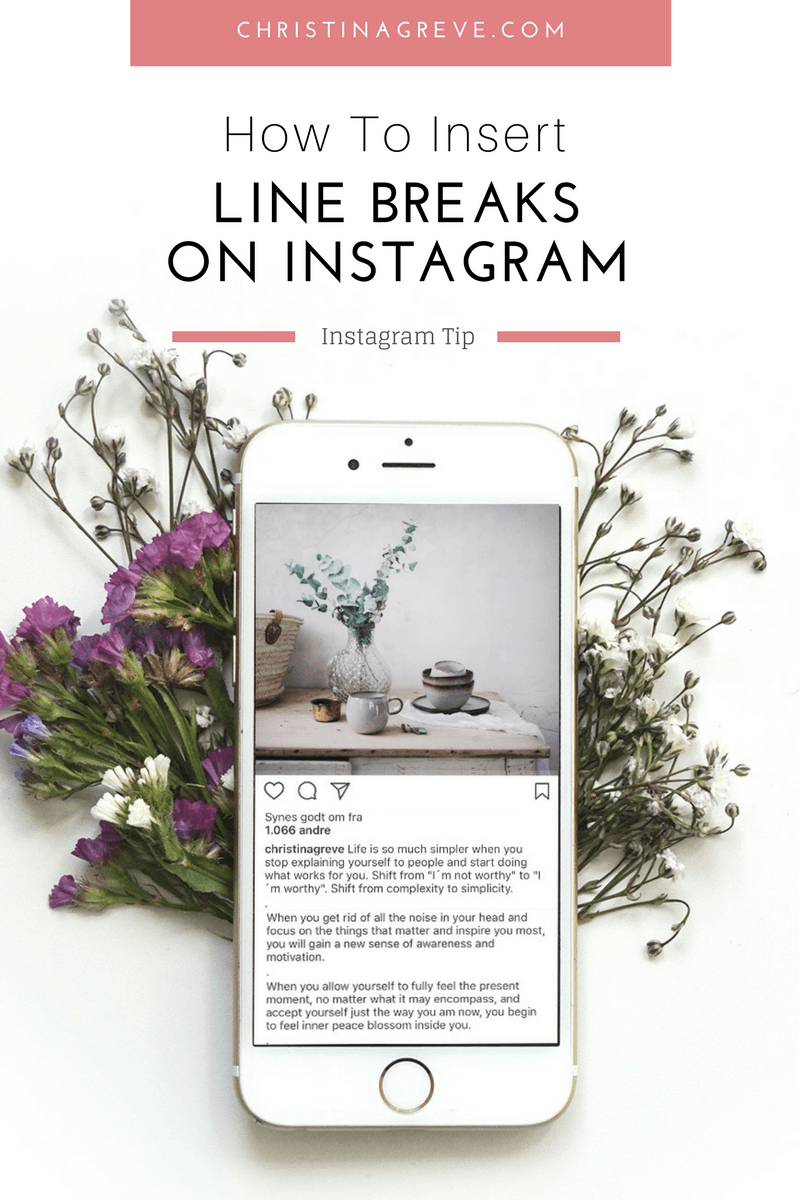 How To Insert Line Breaks On Instagram