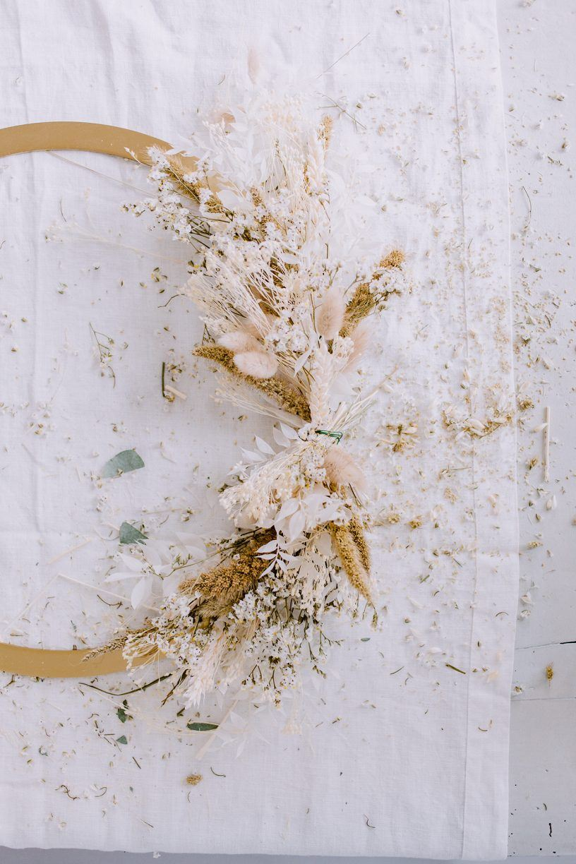 Flower wreath by Christina Greve